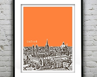 Presidents Day Sale 15% Off - Oxford England Poster  Art Print UK United Kingdom Oxford University Version 1