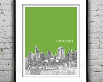 Cincinnati Poster Art Print  Hamilton County Ohio