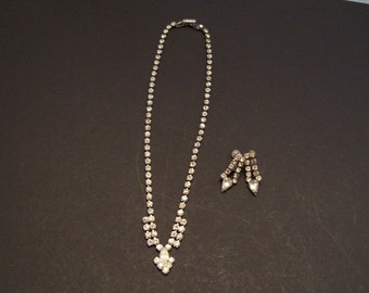 Rhineston Necklace and earrings