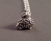 Hedgehog Charm Necklace - Hedgehog Necklace - Hedgehog Jewelry