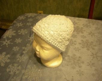Crochet baby blue hat