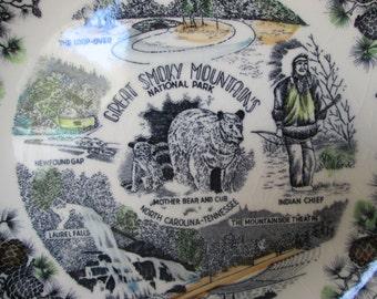 Antique Smokey mountain plate
