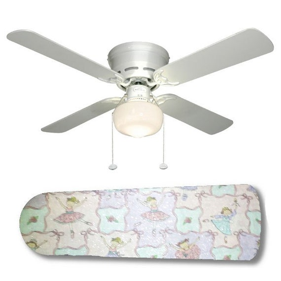 Ceiling Fan with Lamp Little Girls Ballerina Babies by