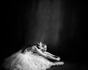 Fine Art Photography Print, Ballerina in Black & White, 16 x 16 Print - Ballerina IV