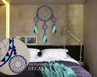 Bedroom Wall Decal - Dreamcatcher Wall Decal - Custom Decals -  Dreamcatcher  - Vinyl Wall Decals - Awesome decals / 028