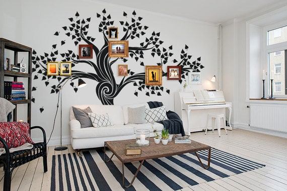 Photo Frame Family Tree Decal Wall Decals Wall Decor: FREE SHIPPING Wall Decal Family Tree Wall Decal By