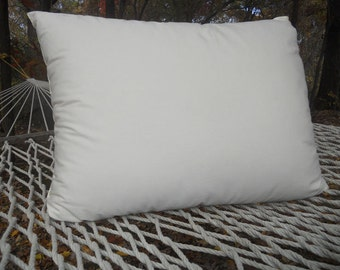 Natural Kapok Pillow with Organic Cotton Covering - Hypoallergenic Vegan Standard