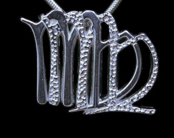 51 Virgo and Virgo Silver Unity Pendant