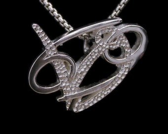 40 Cancer and Capricorn Silver Unity Pendant