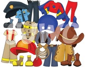 ADD ON Boy Dress Up Make Believe Clothes Children's File Folder Game - Downloadable PDF Only