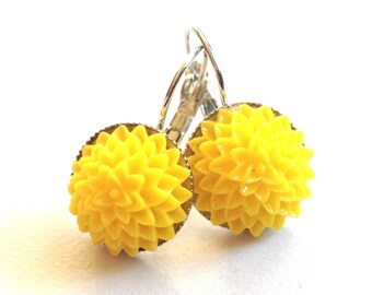 earrings spring yellow flower