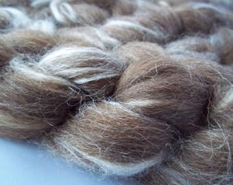 Manx Loaghtan,Tussah Silk Blend, Spinning Fiber,100g / 3.5oz, Rare Breed
