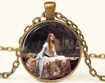 Ophelia Pendant Necklace Resin Art Pendant John Waterhouse Necklace