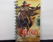 Recycled Notebook From A Few Dollars For Django VHS Box, Handmade, Upcycled Journal, Sketchook, Blank Pages, Diary