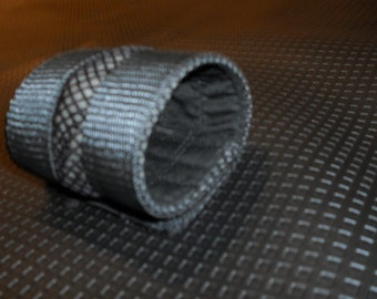 Fishnet and strap industrial bracelet