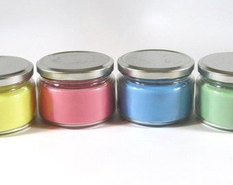 soy candles, colorful soy jar candles, soy jar candles, soy container candles, scented soy candles, jar candles