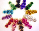 Aluminum Rose Beads 12 Color Mix of 3 sizes