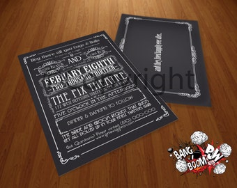 Made to Order 1920's Silent Movie Invitations