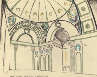 Travel Sketch: Pazzi Chapel, Florence