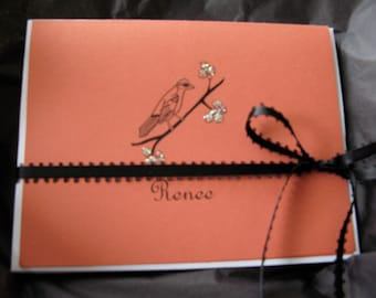 Bird - Personalized Folded Note Card