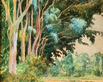 "Martin Malharro : ""Paisaje"" (1907) - Giclee Fine Art Print"