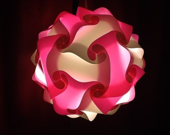 Custom made puzzle lamps size large