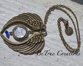 Weeping Angel Inspired Antique Bronze Necklace