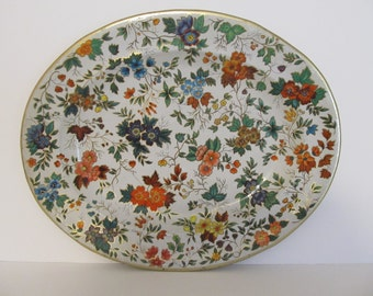 Daher Decorated Ware Tray, made in England, Vintage Tray, Vintage Metal Tray, Decorative Tray, Vintage Daher Tray