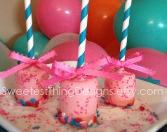 Marshmallow Pops / Favor Pops by The Sweetest Thing Designs & Events