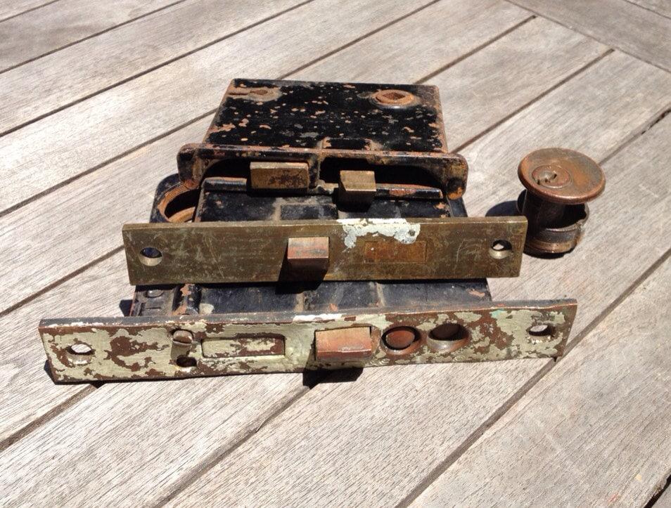 Vintage Sargent Amp Co Lock Easy Spring Door Lock Plus Corbin