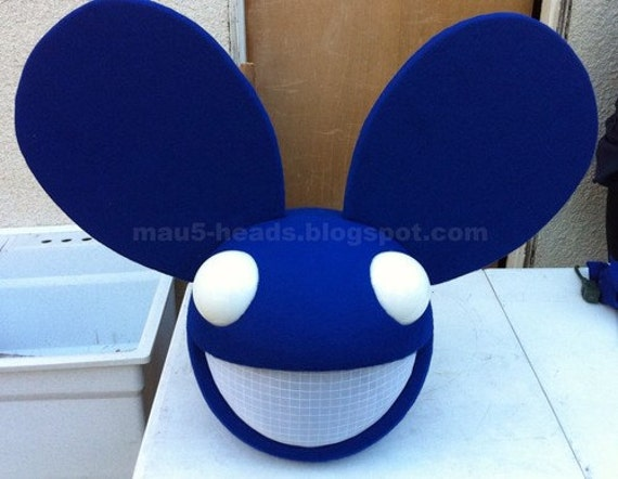 Lighting Blue Mouse Mask Home Made Deadmau5 By