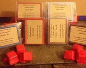 """One HEAVILY SCENTED soy wax melts """"Harvest Squares"""" 3 plus oz"""