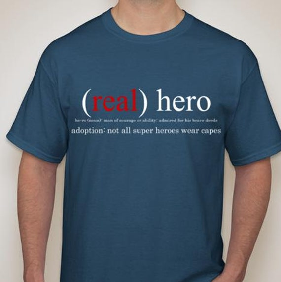 Adoption fundraiser real hero men 39 s t shirt for T shirt fundraiser site