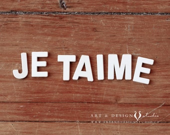 Je Taime, I Love You, Valentine's Day Gift, LOVE Art Print, Love Home Decor, Anniversary Gift, Wedding Gift, Gift for Him, Gift for Her