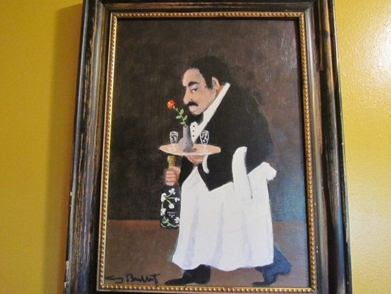 Waiter Oil Painting Guy Buffet Painting Oil By