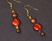 Autumnal Fires, Pearl Earrings