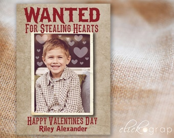 Wanted - Valentine Photo Card