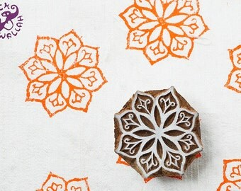 Traditional Indian wood stamp, perfect for mixed media projects