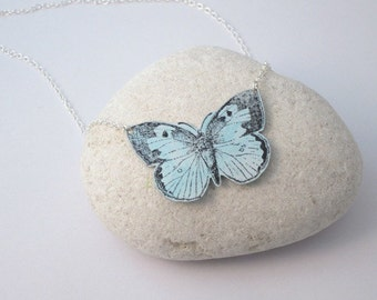 Anodised aluminium butterfly shaped necklace
