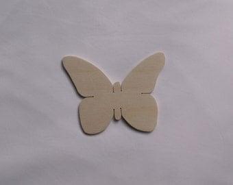 5 x Wooden Embellishment/ Cut Outs - Butterfly- 10.5cmx 8cm Decoupage Art Craft