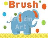Safari Bathroom Art, bathroom decor, shower gift, elephant, giraffe, lion, monkey, aligator, hippo