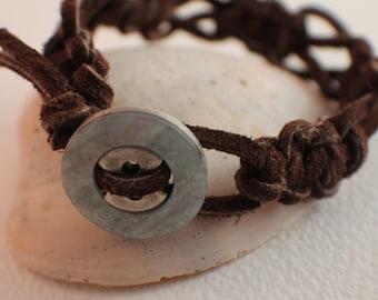 Thick Suede Macrame Bracelet