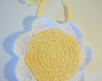 Daisy Bib PDF Crochet Pattern INSTANT DOWNLOAD