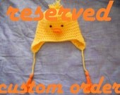 RESERVED FOR NANCY Baby Chick Hat (toddler)