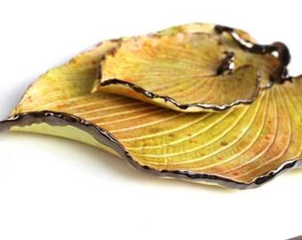 Leaf Platter and Dip Bowl Set