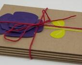 5 Pack Cards - Flower, Handmade