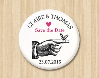 Vintage Romance - Save the Date Magnets
