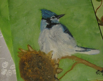 A BlueJay oil painting