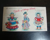Box of 18 Vintage Dolls of Many Lands in Natve American Attire Cards
