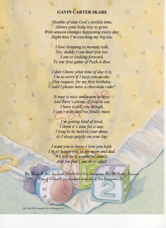 Six Stanza Version I Personalized Baby.... Poem : baby quilt poem - Adamdwight.com